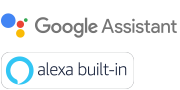 Лого ознаки за Google Assistant и Alexa built-in