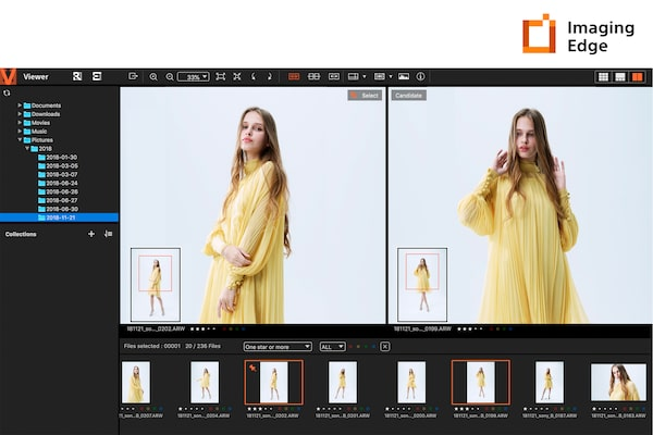 Функции Remote, Viewer и Edit на Imaging Edge™